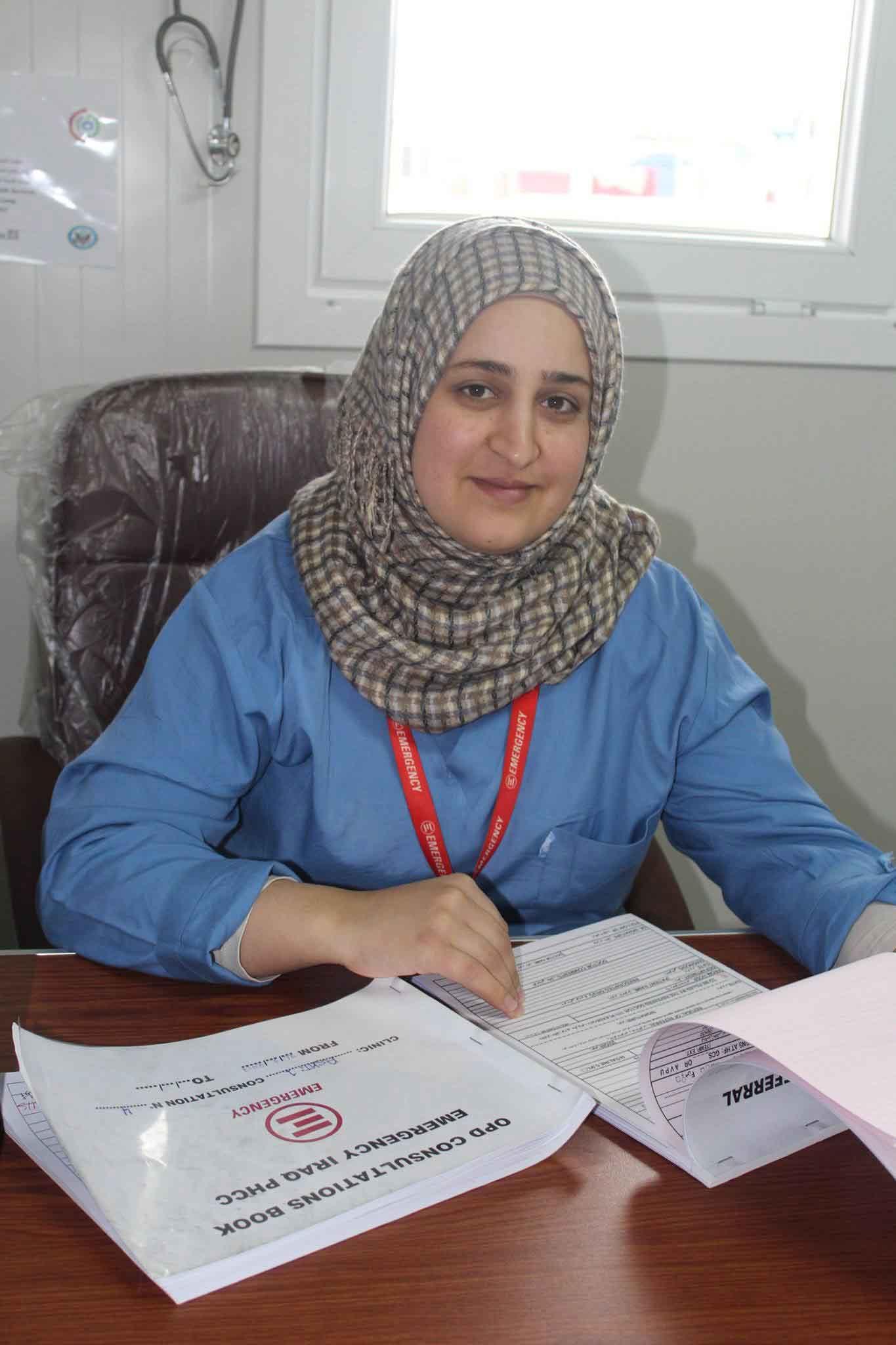 An EMERGENCY Iraqi nurse