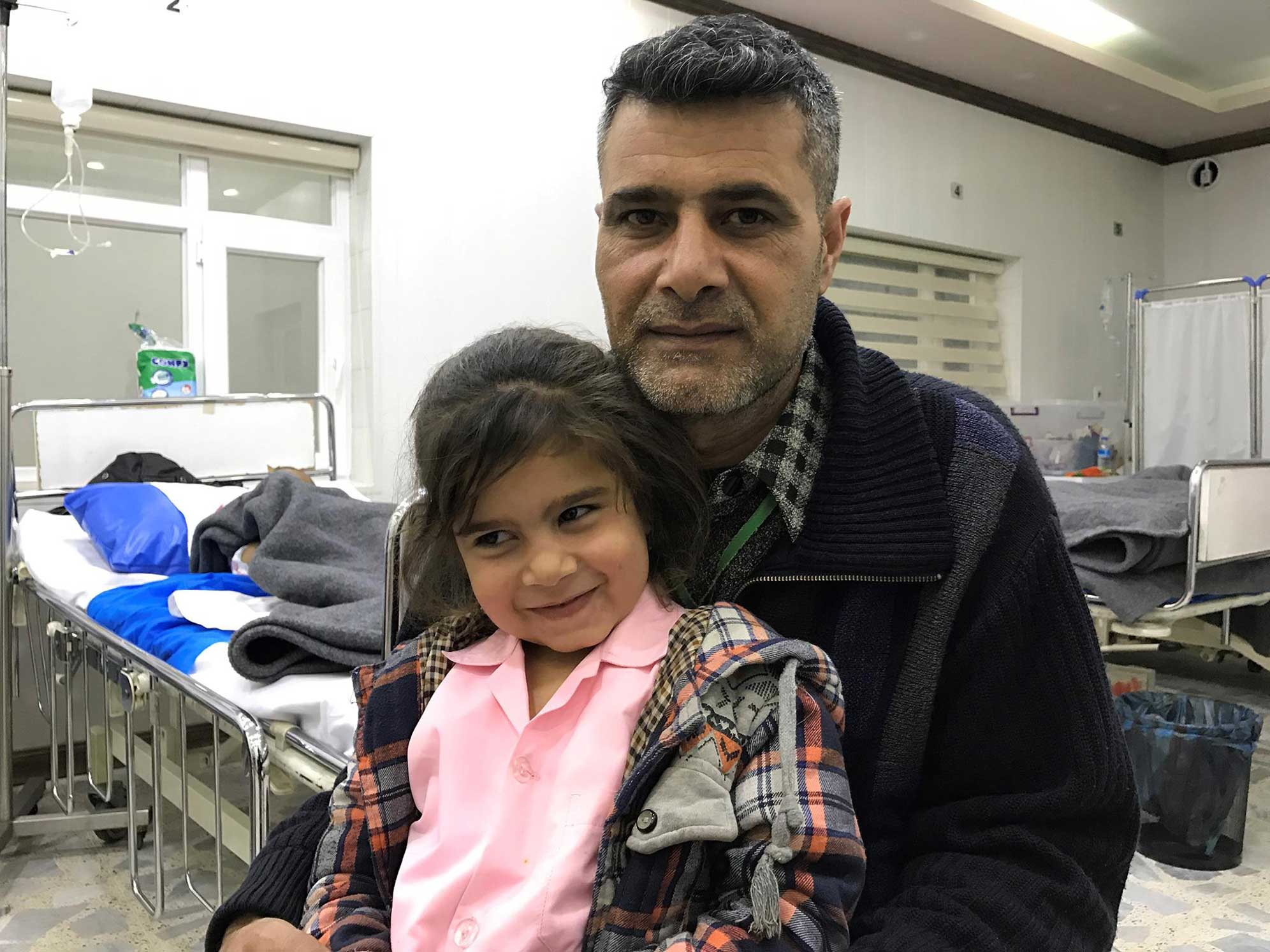 The Mosul family in the Emergency Hospital of Erbil - Iraq