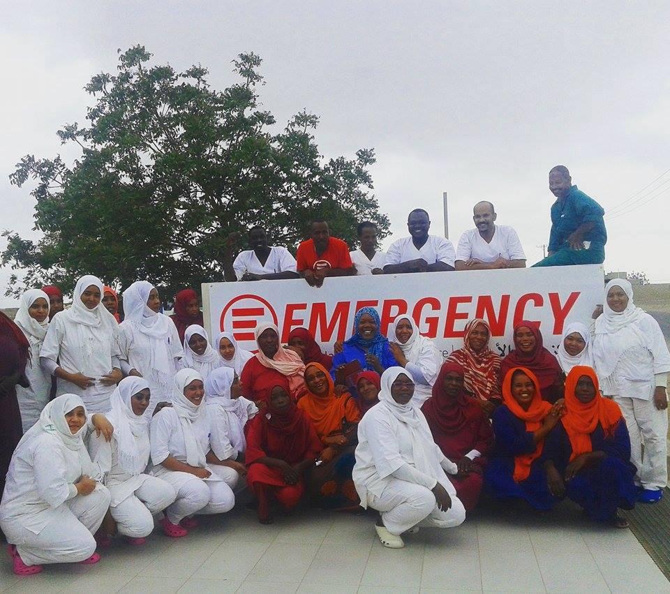 The staff of the Paediatric Centre in Port Sudan