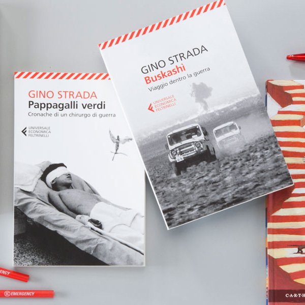 Pappagalli verdi and Buskashi, two of EMERGENCY's books