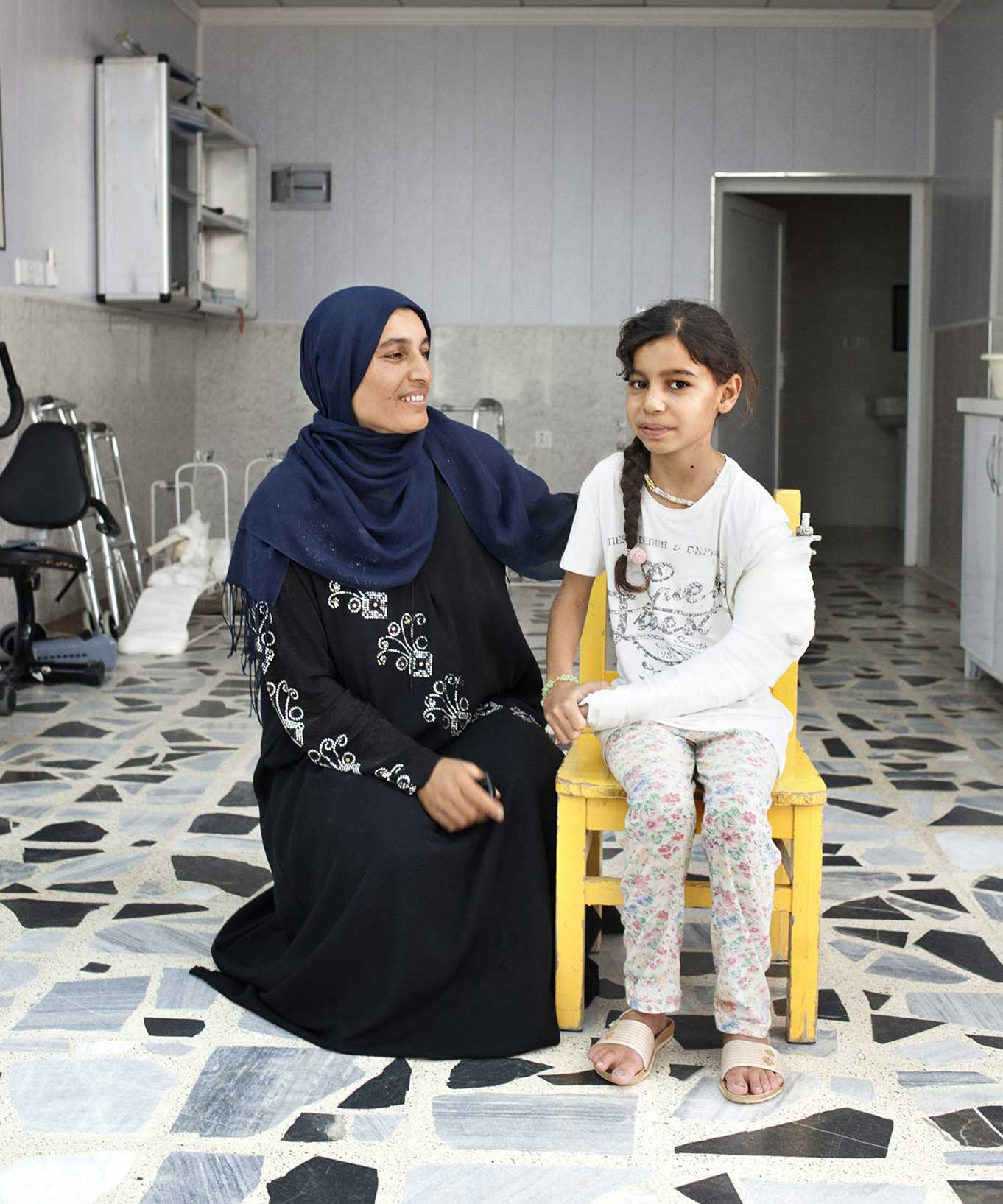 Zahra and Saja in the Emergency Hospital in Erbil