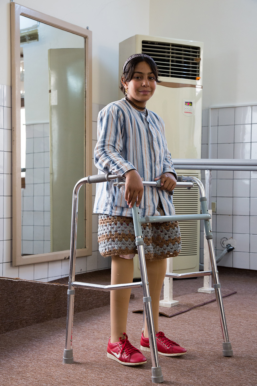 Ahlam at the Rehabilitation Centre in Sulaymaniyah Iraq