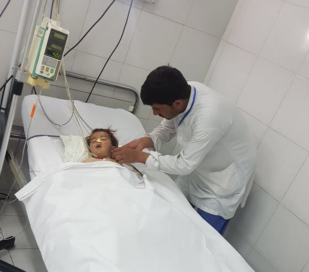 Khalid in our Surgical centre in Lashkar-gah