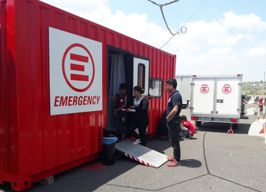 EMERGENCY mobile clinic in Augusta, Sicily