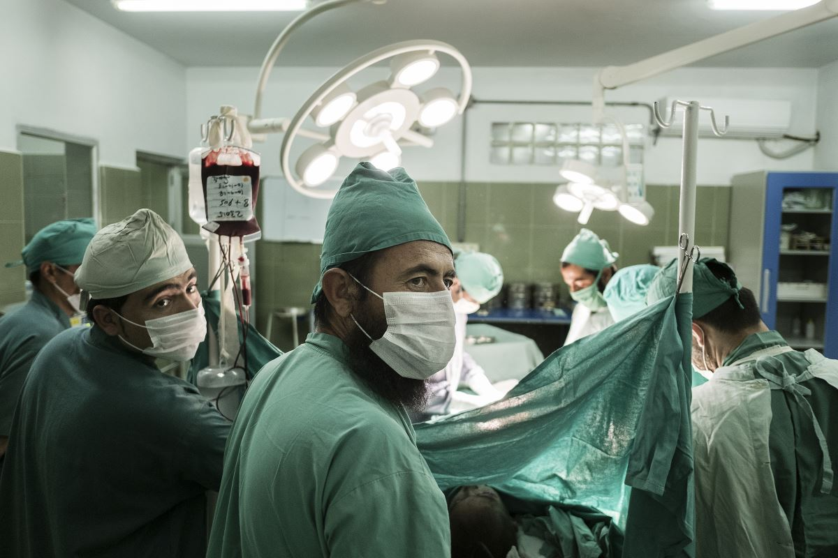 EMERGENCY surgeons before Khudai Noor's operation